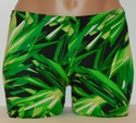 Green & Black Cracked Ice Spandex Shorts