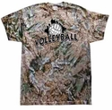 Green Camo Tie-Dye Volleyball Tee - in 6 Designs