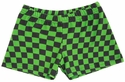 Green Checkers Spandex Shorts