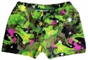Green Graffiti Camo Spandex Shorts