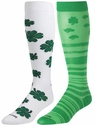 Green Shamrock Over-Calf KraziSox - 2 Color Options