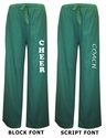 Green & White Swiss Dot Flannel Pants - Choice of 16 Sport Imprints - Leg or Rear