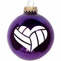 Heart Volleyball Tree Ornament - in 2 Colors