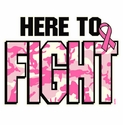 Here To Fight Cancer Awareness T-Shirt - in 27 Shirt Colors