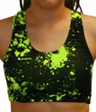 Highlighter Paint Splatter Sports Bras
