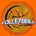Volleyball Hit Hard Design Neon Orange T-Shirt