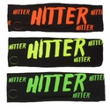 Hitter Black Spandex Headband w/ Neon Lettering - in 5 Colors