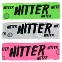 Hitter Neon Spandex Headband w/ Black Lettering - in 6 Colors
