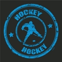 Hockey Player Stamp Design T-Shirt - in 27 Shirt Colors