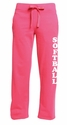 Hot Pink Ladies Fleece Sport Pants - Choice of 22 Sports on Leg or Rear