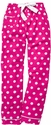 Hot Pink Polka Dot Flannel Pants - Choice of 22 Sport Imprints - Leg or Rear