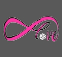 Infinity Love Volleyball Design Dark Grey T-Shirt