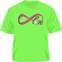 Infinity Love Volleyball Design Neon Green T-Shirt