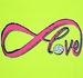 Infinity Love Volleyball Design Long Sleeve Neon Yellow Shirt