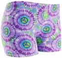 Lavender & Lime Peace Sign Spandex Shorts