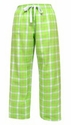 Lime Flannel Tie-Cord Pants - Choice of 22 Sport Imprints on Leg or Rear