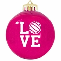 Love Volleyball Tree Ornament - in 3 Colors