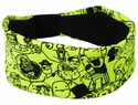 Meme Highlighter Yellow Spandex Fabric Headband