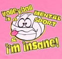 Mental Sport Pink Volleyball T-Shirt