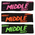 Middle Black Spandex Headband w/ Neon Lettering - in 5 Colors