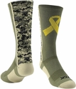 Military Awareness Digi-Camo Performance Crew Socks
