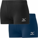Mizuno Core Hybrid Flat Front Vortex Spandex Shorts - in Black or Navy