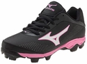 Mizuno Molded Black & Pink 9-Spike Finch Franchise 5 Softball Shoe