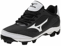 Mizuno Molded Black & White 9-Spike Finch Franchise 5 Softball Shoe