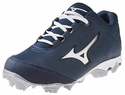 Mizuno Molded Navy & White 9-Spike Finch Elite Softball Shoe