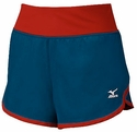 Mizuno Navy Blue & Red Women's Cover Up Short