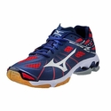 Mizuno Wave Lightning Z Men's Navy & Red Volleyball Shoes