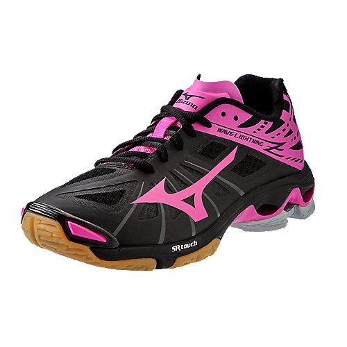 Mizuno's Black / Pink Wave Lightning Z Elite Women's Volleyball ...
