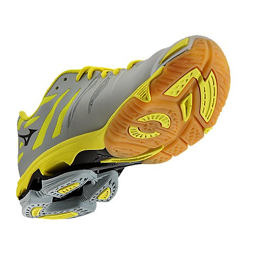 Mizuno's Grey / Yellow Wave Lightning Z Elite Women's Volleyball ...