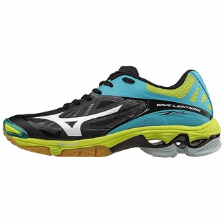 Mizuno's Black, Lime Green & Blue Atoll Wave Lightning Z2 Women's ...