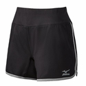 Mizuno Women's  Elite 9 Training Short in Black / Grey
