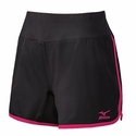 Mizuno Women's  Elite 9 Training Short in Black / Shocking Pink