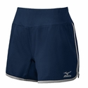 Mizuno Women's  Elite 9 Training Short in Navy / Grey