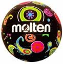 Molten Black & Neon Psychedelic Mini Volleyball