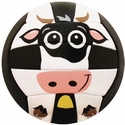 Molten Black & White Cow Smiley Face Mini Volleyball