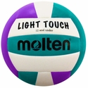 Molten Light Touch Violet & Aqua Youth Beach Volleyball