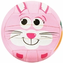 Molten Pink Bunny Smiley Face Mini Volleyball