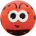 Molten Red & Black Lady Bug Smiley Face Mini Volleyball