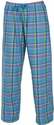 Moonlight Blue Plaid Flannel Lounge Pants - Choice of 22 Sport Imprints on Leg or Rear