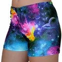Multi-Color Galaxy Spandex Shorts