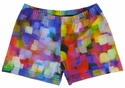 Multi-Color Lights Spandex Shorts