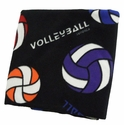 Multicolor Volleyball Pattern Polar Fleece Blanket