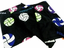 Multicolor Volleyball Print Fleece Blanket