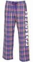 Mystic Purple Flannel Tie-Cord Pants - Choice of 22 Sport Imprints on Leg or Rear