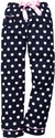Navy Blue Polka Dot Flannel Pants - Choice of 22 Sports on Leg or Rear