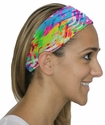 Neon Beach Tracks Spandex Fabric Headband